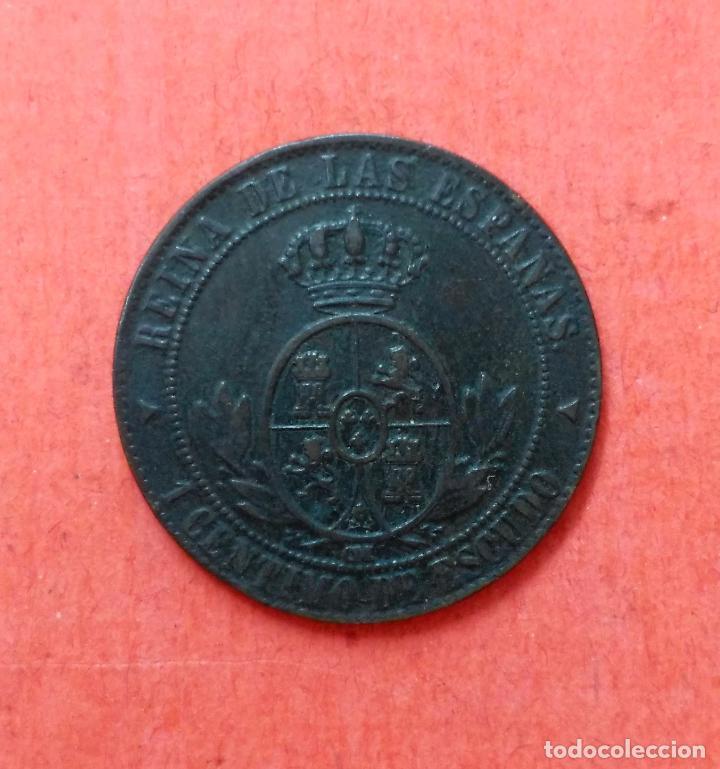 Monedas de España: ISABEL II : 1 Centimo de Escudo 1868 Segovia - Foto 2 - 68120009