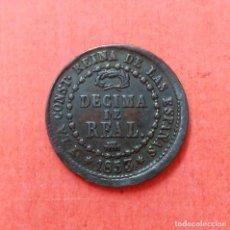 Monedas de España: ISABEL II : 1 DECIMA DE REAL 1853 SEGOVIA . Lote 68121977
