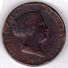 Monedas de España: 1861 - ISABEL II - 25 CÉNTIMOS DE REAL CECA DE SEGOVIA... Lote 95611500