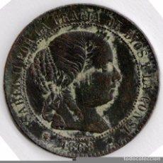 Monedas de España: 1868 - ISABEL II - 2 MEDIO CÉNTIMOS DE ESCUDO DE SEGOVIA... Lote 68397765