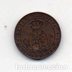 Monedas de España: ISABEL II. 1/2 CÉNTIMO. AÑO 1868. JUBIA. SIN CIRCULAR.. Lote 68552489