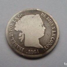 Monedas de España: 4 REALES 1864. ISABEL II. Lote 68781177