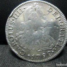 Monedas de España: 2 REALES PLATA 1792 CARLOS IIII .I.J. LIMA. Lote 95330164