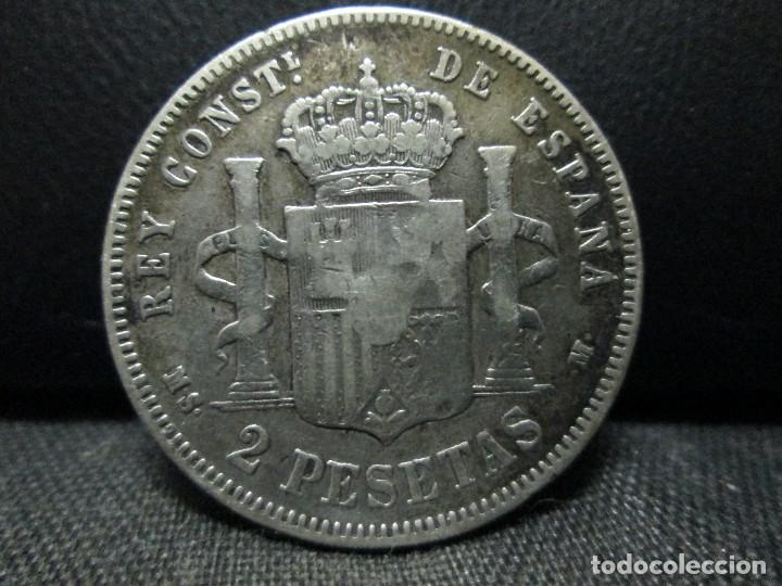 Monedas de España: 2 pesetas 1882 alfonso XII PLATA - Foto 2 - 68854117