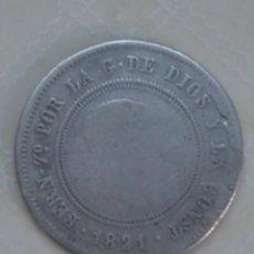 Monedas de España: 10 REALES DE PLATA DE FERNANDO VII DE 1821. RESELLADO. MADRID. SR. KM 560. Lote 68862777