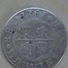 Monedas de España: 2 REALES DE PLATA DE CARLOS III DE 1761. MADRID. JP. KM 388.1. Lote 68864677