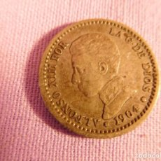 Monedas de España: MONEDA DE PLATA, DEL REY ALFONSO III 1904. Lote 69721117