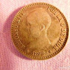 Monedas de España: MONEDA DE PLATA DE ALFONSO XIII, 1892 . Lote 69721473