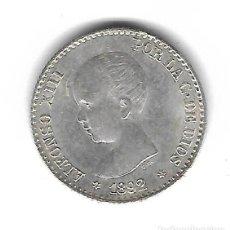 Monedas de España: MONEDA. ALFONSO XIII. 50 CENTIMOS. 1892. ESTRELLA 92.. Lote 69821481