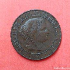 Monedas de España: 2 Y 1/2 CENTIMOS DE ESCUDO - ISABEL II - SEGOVIA 1868. Lote 69865333