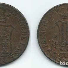 Monedas de España: MONEDA DE SEIS CUARTOS 1844 BIEN CONSERVADA . Lote 69904609