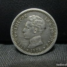 Monedas de España: 50 CENTIMOS 1904 ALFONSO XII ESTRELLAS 1 0 PLATA. Lote 237139665