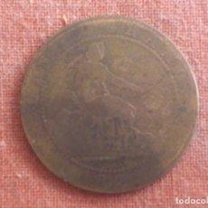 Monedas de España: MONEDA DE COBRE, GOBIERNO PROVISIONAL, CINCO CENTIMOS, 1870. Lote 70113289