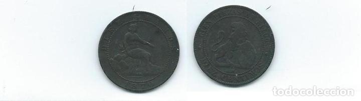 10 CÉNTIMOS, 1870, GOBIERNO PROVISIONAL (Numismática - España Modernas y Contemporáneas - De Isabel II (1.834) a Alfonso XIII (1.931))