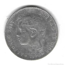 Monedas de España: MONEDA. 1 PESETA. 1896. ALFONSO XIII. Lote 114310202