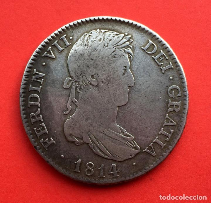 ¡¡ RARISIMA !! MONEDA DE 4 REALES DE FERNANDO VII. MADRID. AÑO 1814. G.J (Numismática - España Modernas y Contemporáneas - De Reyes Católicos (1.474) a Fernando VII (1.833))