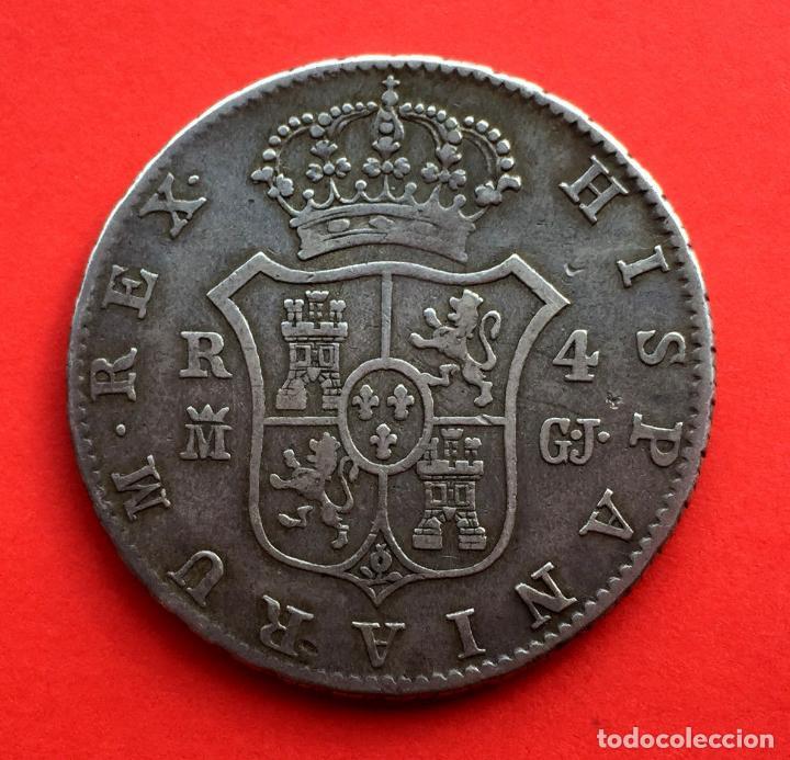 Monedas de España: ¡¡ RARISIMA !! Moneda de 4 Reales de Fernando VII. Madrid. Año 1814. G.J - Foto 2 - 71462283