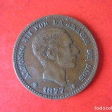 Monedas de España: 5 CENTIMOS DE ALFONSO XIII 1877. #MN. Lote 71605887
