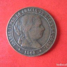 Monedas de España: ISABEL II. 2 Y 1/2 CENTIMOS DE ESCUDO. 1868 JUBIA. #MN. Lote 71804907