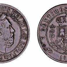 Monedas de España: SPAIN COIN CARLOS VII PRETENDIENTE 5 CENTIMOS DE PESETA 1875 BRUSELAS COBRE VER R131220160457. Lote 71837931