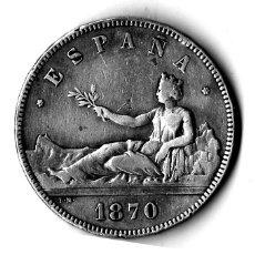 Monedas de España: 5 PESETAS GOBIERNO PROVISIONAL 1870. 18-70. Lote 71947531