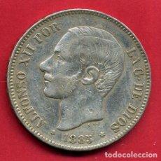 Monedas de España: MONEDA 5 PESETAS 1885 , ALFONSO XII , ESTRELLAS VISIBLES 18 87 , DURO PLATA , MBC+ , ORIGINAL, D2162. Lote 72058895