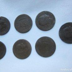 Monedas de España: 7 MONEDAS DE 10 CÉNTIMOS ÉPOCA ALFONSO XII 1877-1879. Lote 72297123