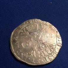 Monedas de España: MONEDA PATAGÓN DE PLATA DE FELIPE IV ACUÑADO EN AMBERES EN 1632. Lote 72921161