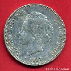 Monedas de España: MONEDA 5 PESETAS 1893 PGV , ALFONSO XIII , ESTRELLAS VISIBLES 18 93 ,DURO PLATA , EBC- , D2197. Lote 73412231