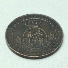 Monedas de España: 2 1/2 CENTIMOS DE ESCUDO DE ISABEL II 1868. Lote 73734131