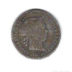 Monedas de España: MONEDA. ISABEL II. 10 CENTAVOS DE PESO. 1868. MANILA. Lote 73888447