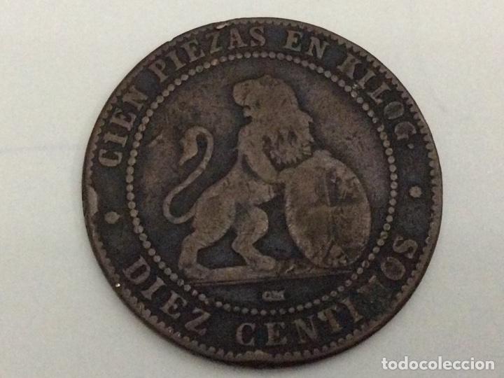 Monedas de España: Moneda 10 céntimos 1870 - Foto 2 - 74358535