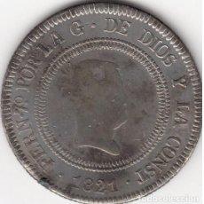 Monedas de España: FERNANDO VII: 10 REALES 1821 BILBAO - FALSA DE EPOCA. Lote 74734599