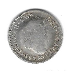 Monedas de España: MONEDA. 1/2 REAL. FERNANDO VII. 1816. MEJICO. Lote 74765059