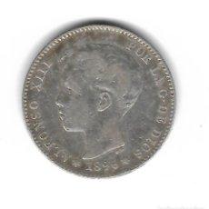Monedas de España: MONEDA. ALFONSO XIII. 1 PESETA. 1896.. Lote 74943615