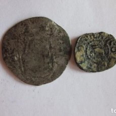 Monedas de España: DINERO Y CUARTILLO. CARLOS I Y JUANA, BARCELONA. FELIPE II, TOLEDO.. Lote 75101815