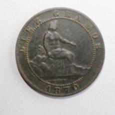 Monedas de España: GOBIERNO PROVISIONAL 1870.COBRE 10 CÉNTIMOS. . Lote 75133139