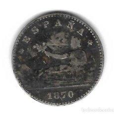 Monedas de España: MONEDA. 50 CENTIMOS. GOBIERNO PROVISIONAL. 1870. SNM. Lote 75186903