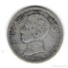 Monedas de España: MONEDA. ALFONSO XIII. 1 PESETA. 1903.. Lote 75197039