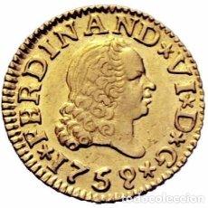 Monedas de España: FERNANDO VI 1759 JV SEVILLA 1/2 ESCUDO. Lote 75693539