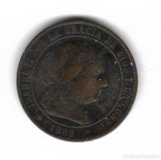 Monedas de España: MONEDA. ISABEL II. 2 1/2 CENTIMOS DE ESCUDO. 1868. JUBIA. Lote 76070071