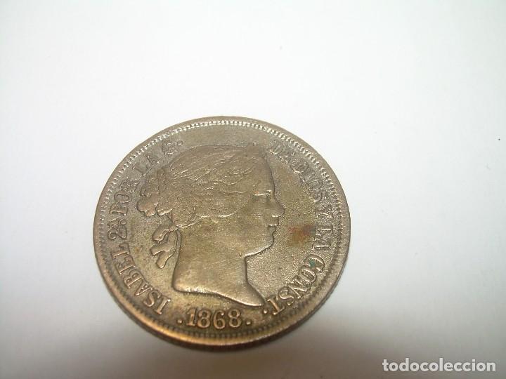 MONEDA ISABEL II..40 CENTIMOS DE ESCUDO...1.868 (Numismática - España Modernas y Contemporáneas - De Isabel II (1.834) a Alfonso XIII (1.931))