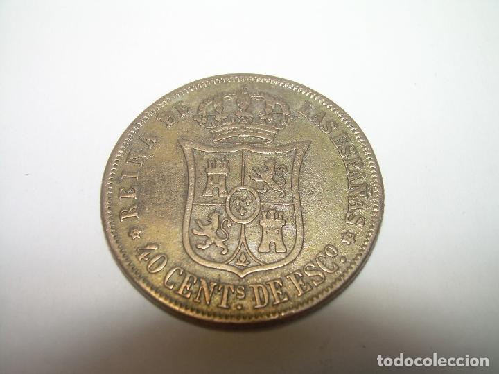 Monedas de España: MONEDA ISABEL II..40 CENTIMOS DE ESCUDO...1.868 - Foto 2 - 76607603