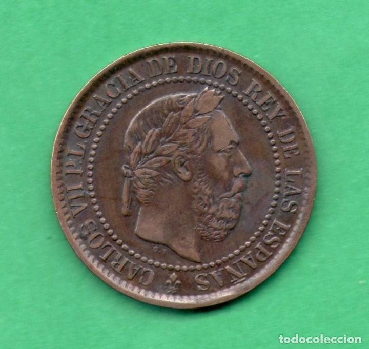 5 CENTIMOS CARLOS VII PRETENDIENTE 1875 (Numismática - España Modernas y Contemporáneas - De Isabel II (1.834) a Alfonso XIII (1.931))