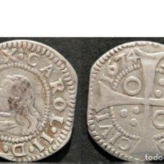 Monedas de España: CROAT 1674 BARCELONA CARLOS II REAL PLATA ESPAÑA. Lote 78588537