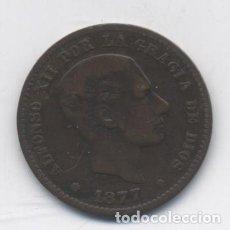 Monedas de España: ALFONSO XII-5 CENTIMOS-1877. Lote 78937105