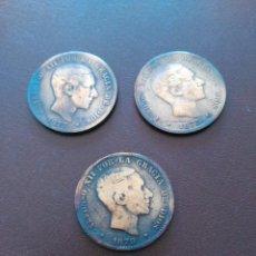 Monedas de España: LOTE 3 MONEDAS 10 CENTIMOS ALFONSO XII. AÑOS 1877, 1878 Y 1879. Lote 158860928