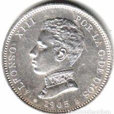 Monedas de España: ALFONSO XIII 2 PESETAS 1905 S.M.V. SC+ EBC. Lote 79609401