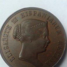 Monedas de España: ISABEL II SEVILLA1862 MEDALLA DE BRONCE. Lote 79619685