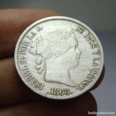 Monedas de España: 20 CENTAVOS DE PESO. PLATA. ISABEL II. FILIPINAS - 1868. Lote 79922889